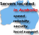 Web servers located in Brisbane Australia